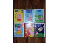 6 Peppa Pig DVD's