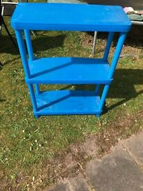 For Sale - Blue Plastic Shelving Unit