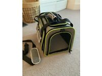 Pet carrier, Expandable Travel Bag, carrier For Dogs Cats, Airline Approved Foldable