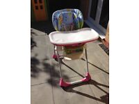 Chicco Polly 2-In-1 Highchair RRP £100 Great condition BRAND NEW SEAT LINER unused £30 ono Baby
