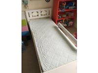 Childs BED including POCKET SPRUNG MATTRESS. Comes with 5 fitted cotton sheets