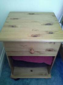 Pine bedside cabinet excellent condition