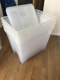 Ikea storage tubs x5