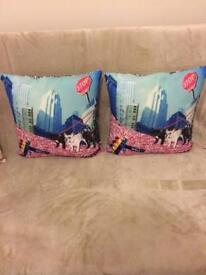 Cushions - French bulldog x2