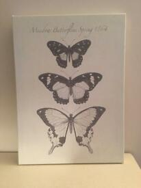 2 butterfly canvases