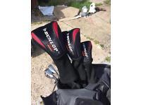 Set of Dunlop tour clubs drivers bag and 20 balls