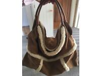 Genuine Ugg Sheepskin handbag, used for sale  Poole, Dorset