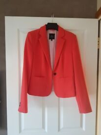 Womens NEXT Tailored Coral Jacket Size 8