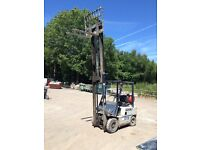 For Sale 1994 Lex Komatsu 1.5 Tonne Gas Forklift, fall free lift, solid tyres, 1440 hours