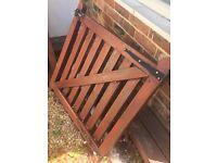2 x wooden garden gates