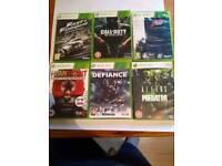 6 Xbox360 games