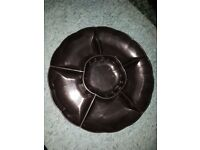 6 sections snack dish serving tray