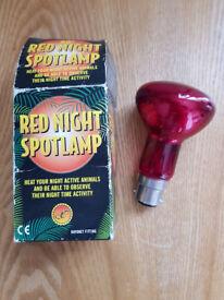 Red Light-bulb for Reptile Vivarium - Bayonet Fitting