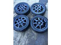 Vauxhall Astra Set of 4 alloy wheels 4 stud good tyres