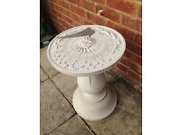 Garden Sundial.Heavy good quality item.Lovely garden feature.