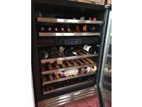 Glass front wine fridge