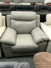 DFS grey leather electric recliner Armchair