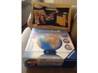 3D jigsaw puzzles Nefretete and The world Puzzle Ball