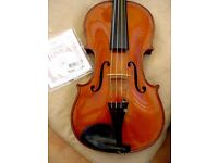 Violin antique ¾ ebony fingerboard lovely flame on back sides and neck set up new strings