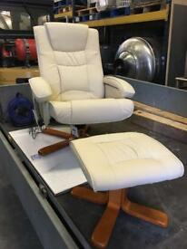 Heat/Massage Swivel Chair and Foot rest