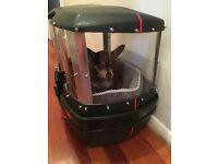 Motorbike Dog Carrier! Modified Givi E45 Topbox - Sturdy, Spacious. Take your dog with you!