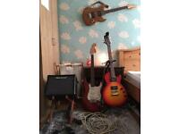 Epiphone lespaul special II + Blackstar stereo 10 idcore and two more guitar