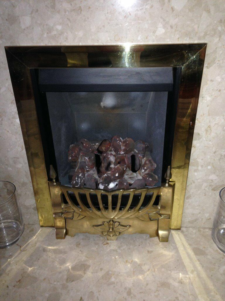 GAS FIRE LIVING FLAME INSET