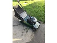 Hayter harrier 48 self propelled rear roller mower . Not Honda .