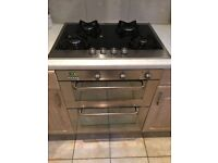 Whirlpool Double electric oven and four ring gas hob