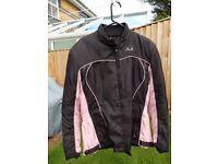 Ladies J & S Motorcycle Jacket. Size XL £45