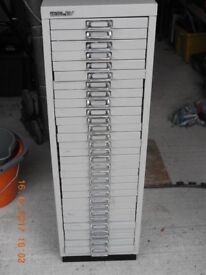 30 DRAWER BISLEY METAL CABINET