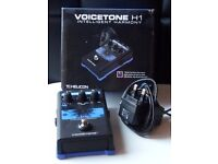 TC-Helicon VoiceTone H1 intelligent harmony pedal as new