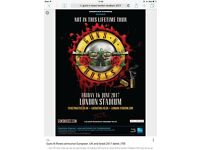 2 standing Guns N Roses tickets London stadium Friday the 16th of June