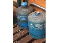 Butane camping gaz 6lb containers . X 2 both empty,.