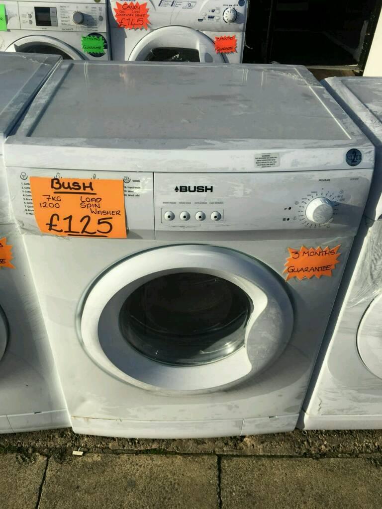 BUSH 7KG 1200 SPIN WASHING MACHINE IN WHITE