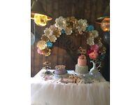 Paper Flower Backdrop Arch