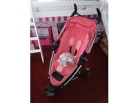 Quinny Zapp Xtra 2 in pink + rain cover