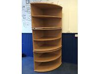 3 corner filing shelves, like new