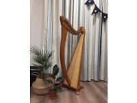 Second-hand Harp for sale, 34-string Camac Hermine in Walnut