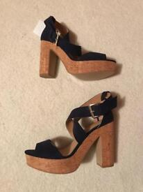 H&M Navy block heels