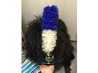 5 Tail Feather Bonnet, Execellent Condition New Hackle. ONO