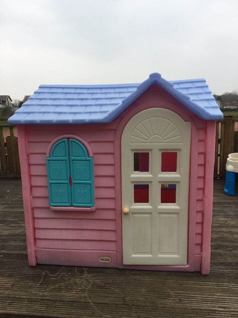 Little tikes country cottage pink playhouse in glasgow for Little tikes house