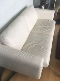 Vintage Habitat leather sofa (£1600 originally), comfortable and sturdy