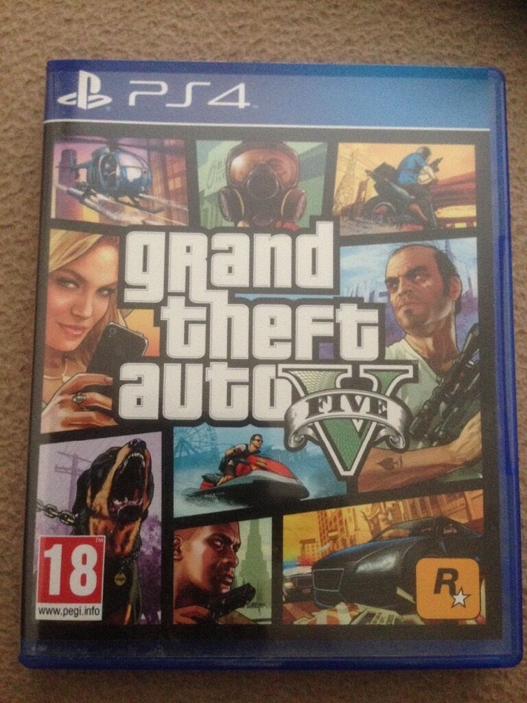 Grand theft auto five PS4 game like new