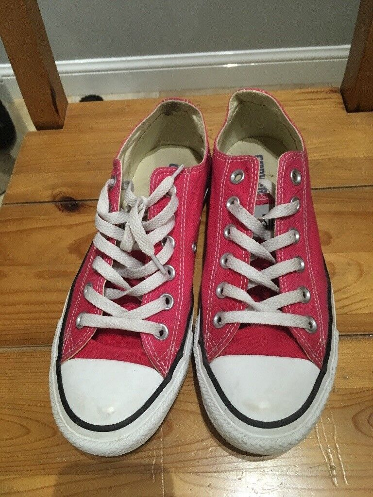 Ladies uk size 6 pink converse all stars