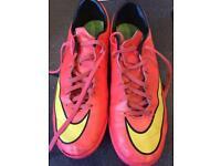Nike Mercurial pink trainers UK 6.5.