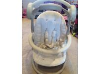 Mamas and papas musical baby swing with lights neutral