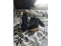 Brand new black swade platform boots £12.00