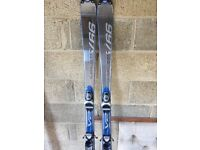 Three sets of skis, mens boots and one set of poles for sale