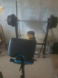 Bench plus weights